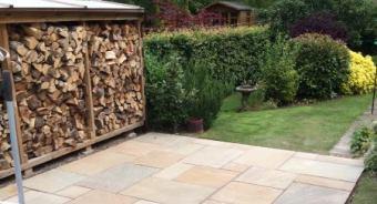 The Burton on Trent Builder - New garden patio laid