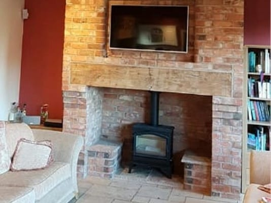 A beautiful new brick built feature fireplace