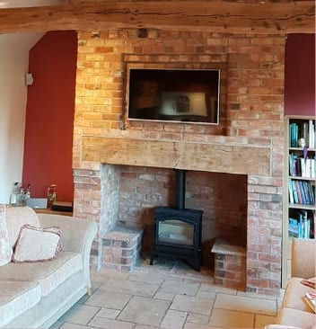 Builders Burton on Trent recent work - Feature Fireplaces