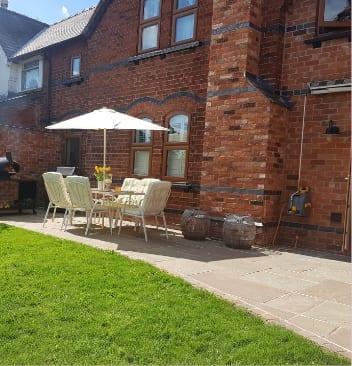 Builders in Burton on Trent recent work - New patio Laid
