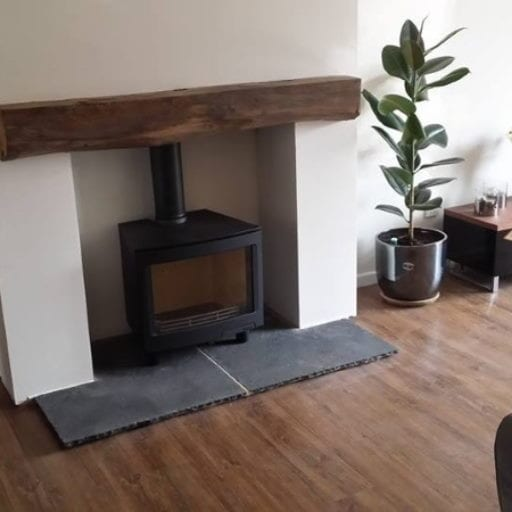 Feature-Fireplace-installers-in-burton-on-trent-latest-insatll-of-black-log-burner