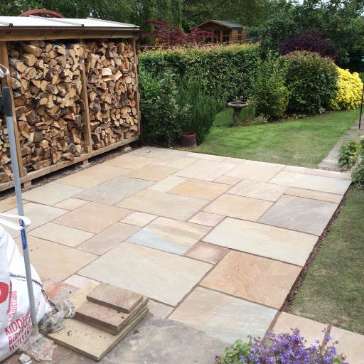 New-square-patio-laid-by-Packington-Builders-in-Burton